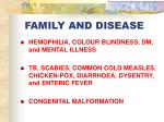 family and disease