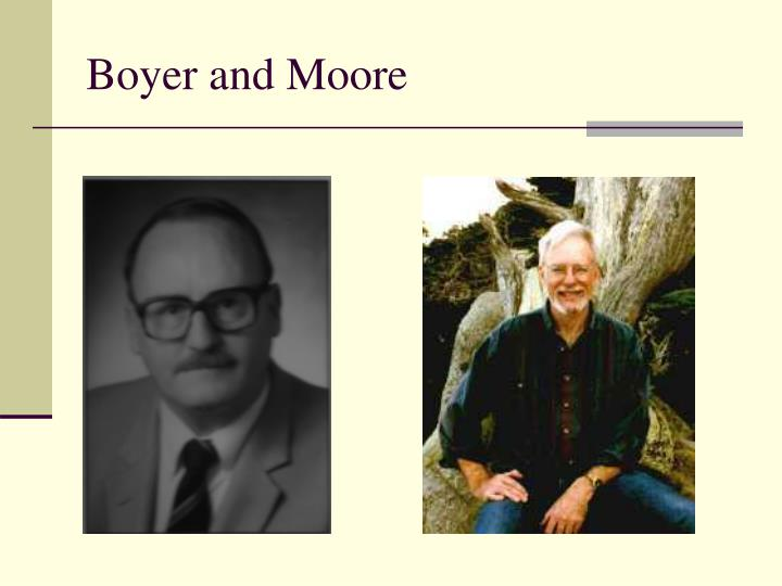 Boyer and moore
