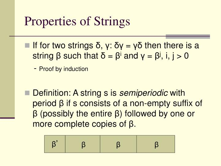 Properties of Strings