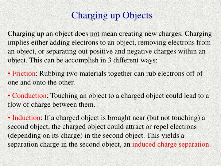 Charging up Objects