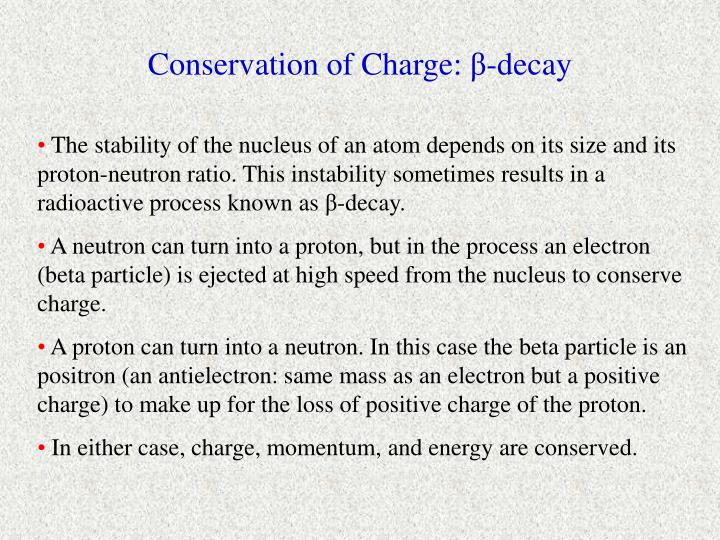 Conservation of Charge: