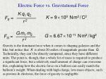 electric force vs gravitational force