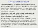 electrons and chemical bonds