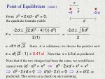 point of equilibrium cont1