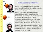static electricity balloons