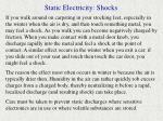static electricity shocks