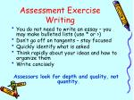 assessment exercise writing1