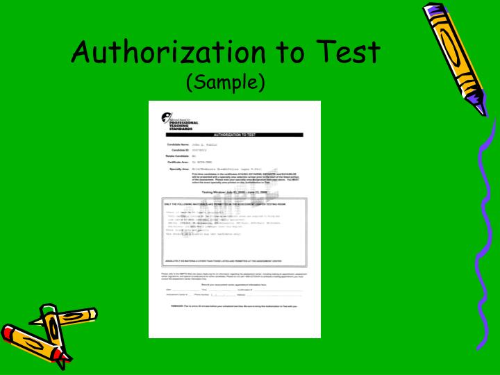 Authorization to Test