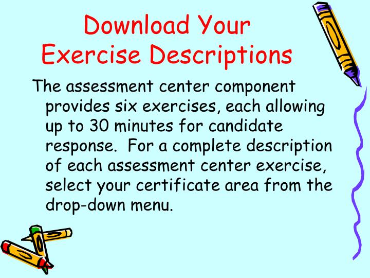 Download Your Exercise Descriptions