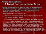 a need for immediate action