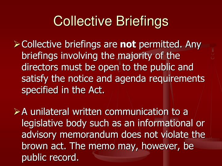 Collective Briefings