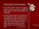 disruptive attendees