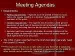 meeting agendas1