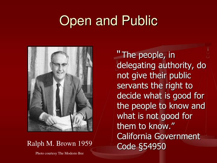 Open and Public