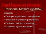 personnel matters 54957