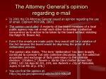 the attorney general s opinion regarding e mail