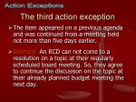 the third action exception
