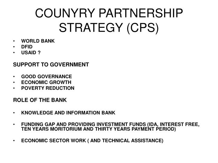 COUNYRY PARTNERSHIP STRATEGY (CPS)