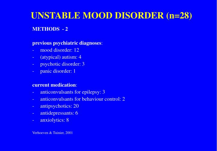 UNSTABLE MOOD DISORDER (n=28)