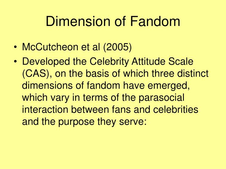 Dimension of Fandom