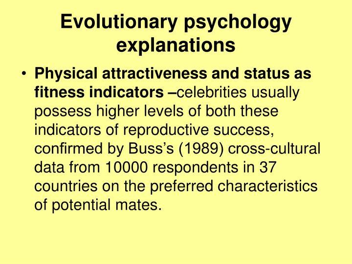 Evolutionary psychology explanations