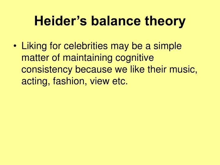 Heider's balance theory