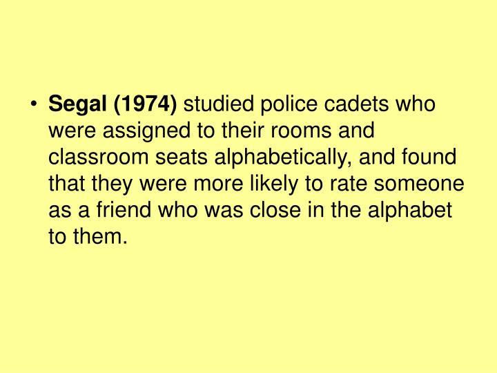 Segal (1974)