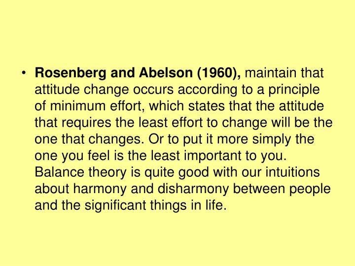 Rosenberg and Abelson (1960),