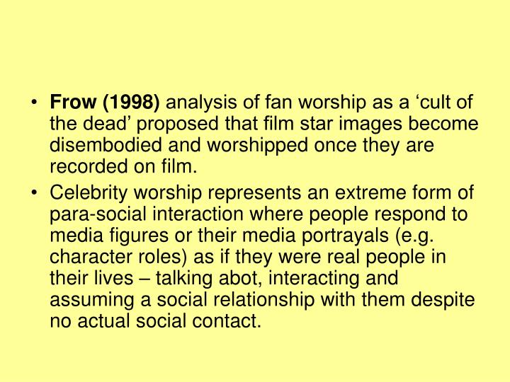 Frow (1998)