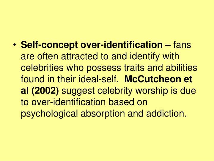 Self-concept over-identification –