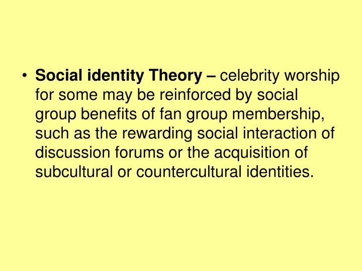 Social identity Theory –
