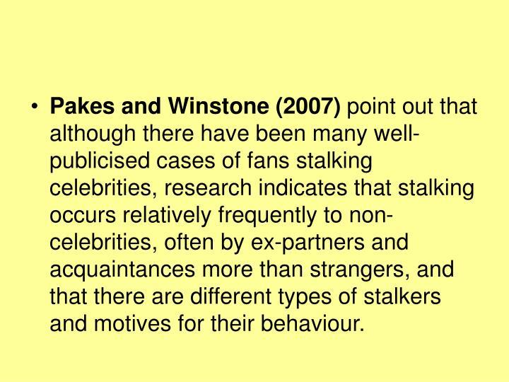 Pakes and Winstone (2007)