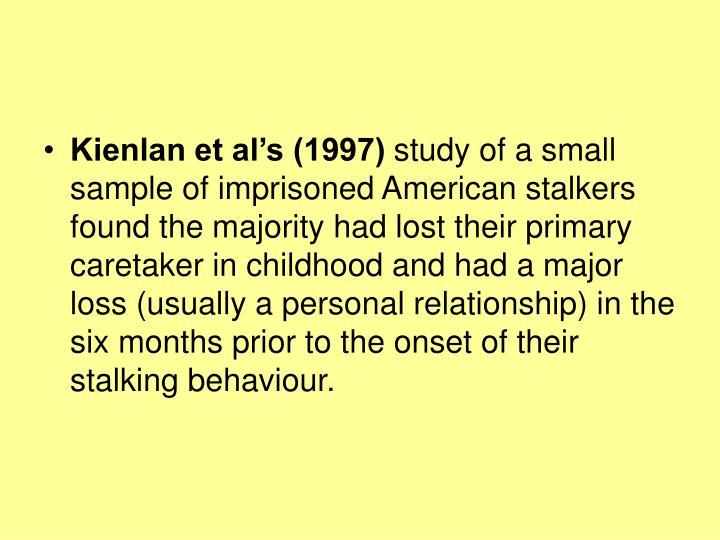 Kienlan et al's (1997)