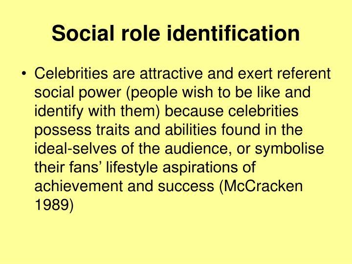 Social role identification