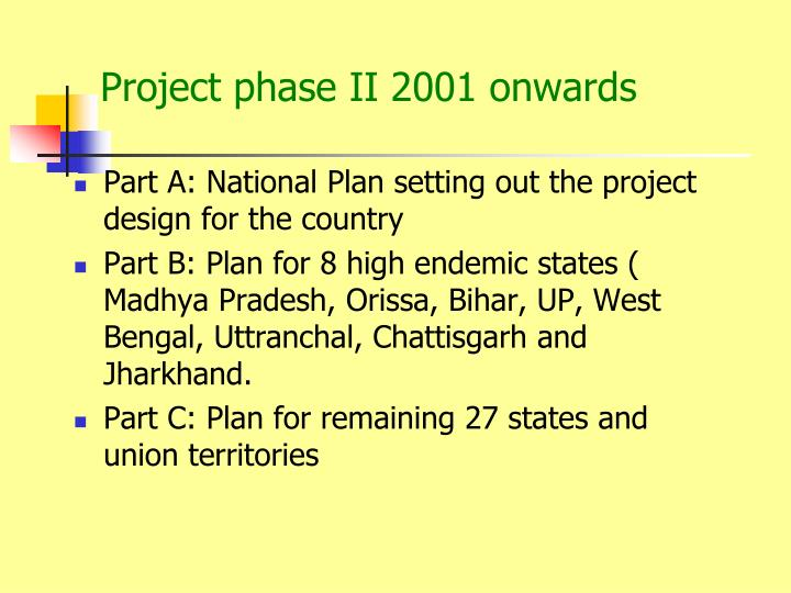 Project phase II 2001 onwards