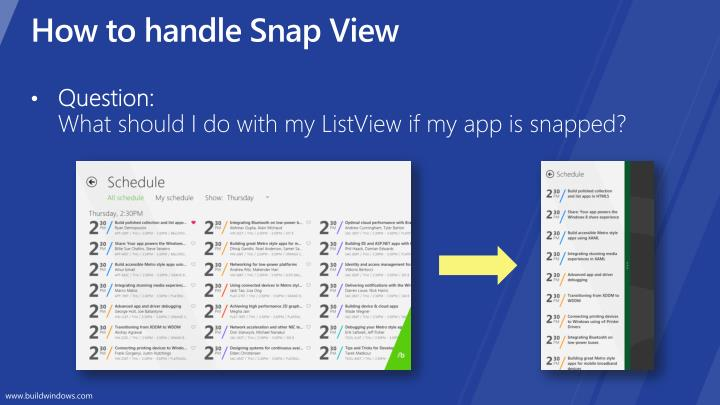 How to handle Snap View