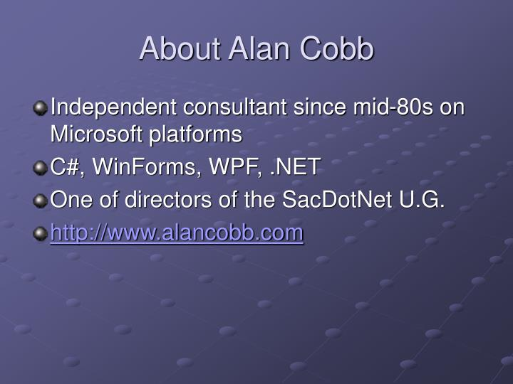 About alan cobb