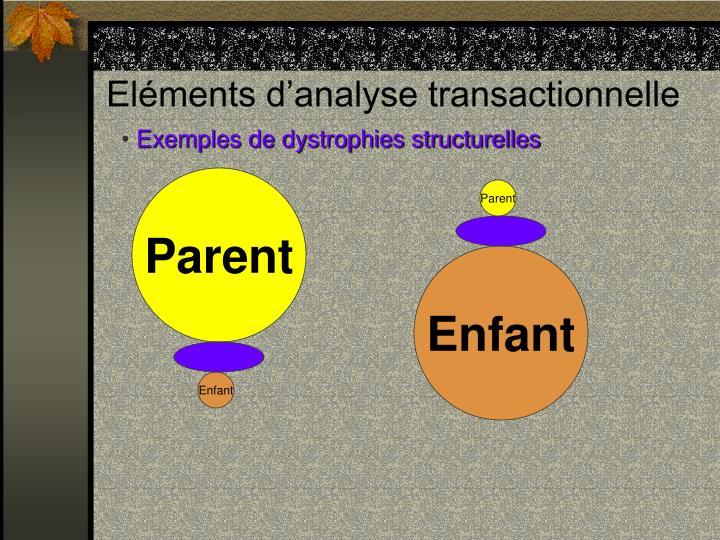 Eléments d'analyse transactionnelle
