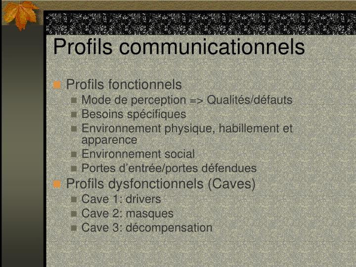 Profils communicationnels