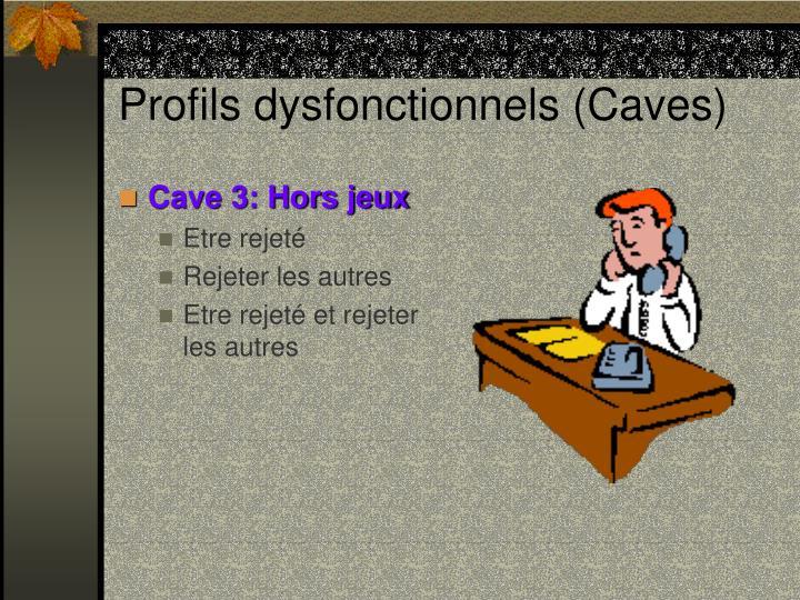 Profils dysfonctionnels (Caves)