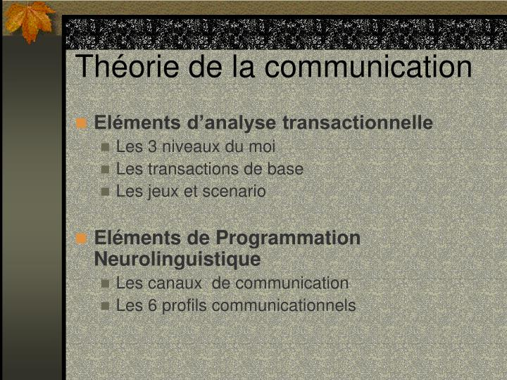 Th orie de la communication