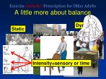 exercise activity prescription for older adults a little more about balance