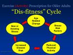 exercise activity prescription for older adults dis fitness cycle