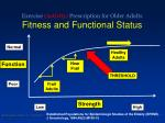 exercise activity prescription for older adults fitness and functional status