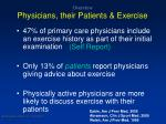 overview physicians their patients exercise
