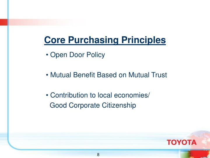 Core Purchasing Principles