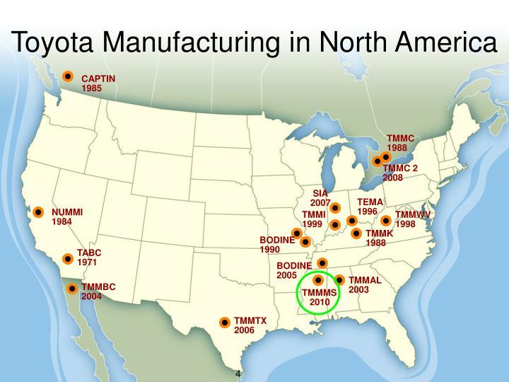 Toyota Manufacturing in North America