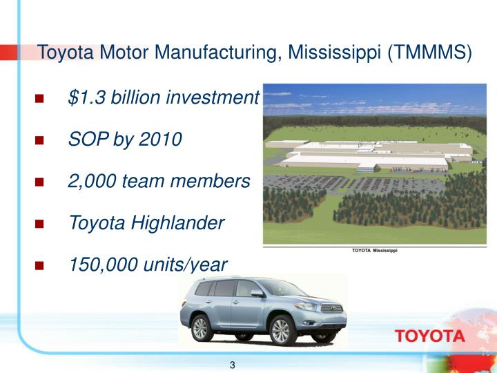 Toyota Motor Manufacturing, Mississippi (TMMMS)