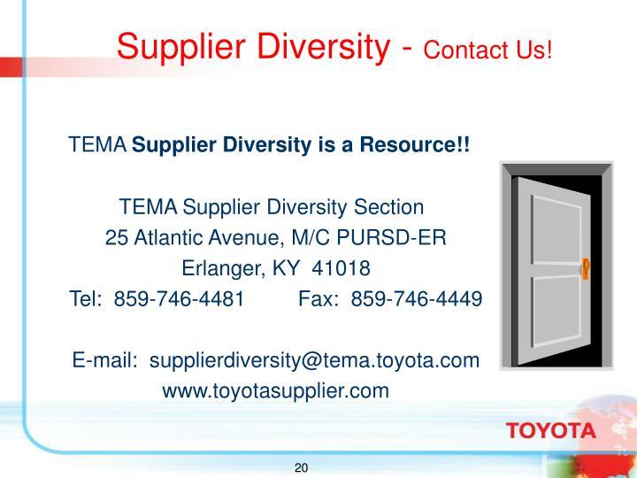 Supplier Diversity -