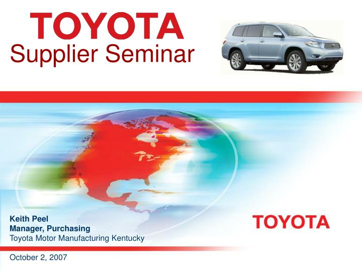 Supplier Seminar